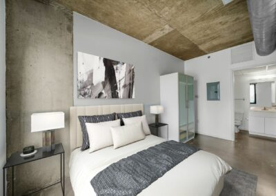 View of a bedroom in the Hub on Chestnut