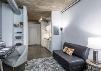 The Hub on Chestnut apartment interior living area