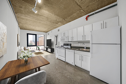 University City apartment at The Hub with industrial styling and modern amenities